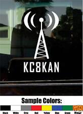 HAM AMATEUR RADIO CALL SIGN VINYL DECAL/STICKER modern