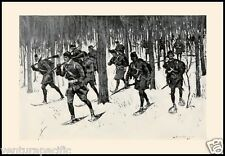 March of Roger's Rangers : Frederic Remington : Circa 1898 [British Army]