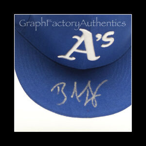 Brandon Inge Oakland Athletics Signed Autographed Fitted Hat COA GFA B