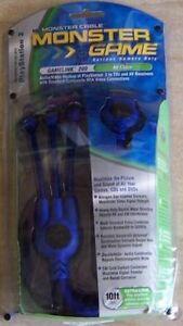 NEW Blue Official OEM MONSTER Gamelink 200 AV Cable for Playstation 2 PS2