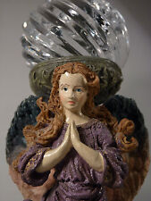 Beautiful 2 piece ANGEL Glass Globe Votive Candle Holder Highly Collectible WOW!