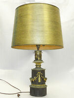 ANTIQUE NEO-CLASSICAL COPPER BRASS ELECTRIFIED CONVERTED OIL LAMP