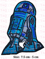 Star Wars R2D2 embroidered iron on / sew on patch badge