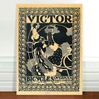 "Vintage Cycling Advertising Poster Art ~ CANVAS PRINT 18x12"" Victor Bicycles"