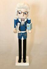 New Male Professor Teacher Wooden Nutcracker Christmas Decor Whimsical Multi