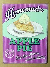 Homemade Apple Pie - Tin Metal Wall Sign