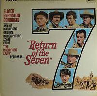 "RETURN OF THE SEVEN - ELMER BERNSTEIN  12"" LP (Q660)"