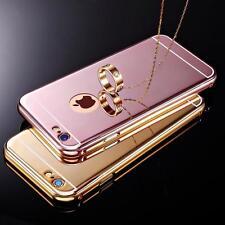 de lujo aluminio ULTRAFINA ESPEJO CARCASA METÁLICA Funda para iPhone SE 5s