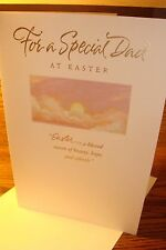 """EASTER RELIGIOUS : DAD """" For a Special Dad at EASTER """" Greeting Card  New e6"""