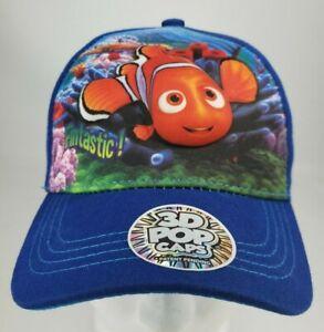 Disney PIXAR Finding DORY 3D Pop Cap NEMO Kids Adjustable Cap Beach NWT
