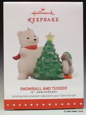 NEW 2015 Snowball and Tuxedo 15th Anniversary HALLMARK KEEPSAKE ORNAMENT 2016