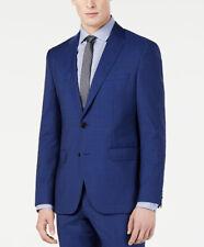$445 HUGO BOSS Mens Electric Blue Textured Wool Suit Jacket Sport Coat 38R