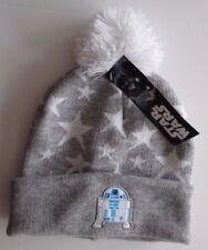 Disney Star Wars Boy/'s Gray R2-D2 Fair Isle Sweater Beanie Hat Cap One Size NEW
