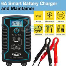 Ring RSC806 12v 6A Car Motorbikes Maintenance Start/Stop Smart Battery Charger