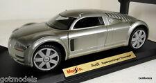 MAISTO 1/18 - 31625 AUDI SUPERSPORTWAGEN 'ROSEMEYER' SILVER DIECAST MODEL CAR