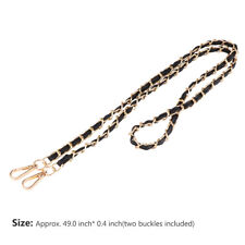 "Metal+Leather Crossbody Shoulder Bag Women Handbag Replacement Chain Strap 47"""