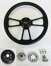 "NEW! 1968 Chevrolet Camaro Black on Black Steering Wheel 14"" Bowtie Center Cap"
