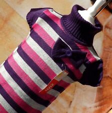 Kinder Mädchen Pullover Long Pulli Strickkleid Pullunder Gr. 110