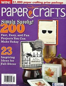 Paper Crafts Magazine Halloween Card Projects Fall Decor Canvas Fabric 2011