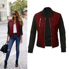Fashion Women Long Sleeve Slim Zipper Casual Blazer Suit Jacket Coat Outwear Top