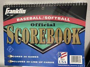 Franklin Official Baseball Softball Score Book Scores 30 Games Brand New Sealed