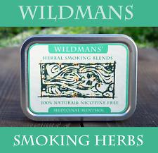 Mezcla de fumar hierbas Mezcla 15g-Medicinal Mentol, mano enrollado, naturalmente curado