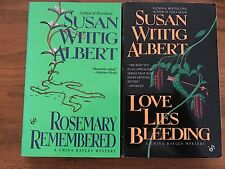 Susan Wittig Albert LOT OF 2 A China Bayles Mystery Paperback