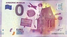 BILLET 0 ZERO EURO SOUVENIR  AIRBORNE MUSEUM  2017-2 TOUT PETIT N° 072