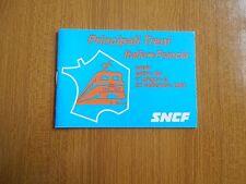 PRINCIPALI TRENI ITALIA FRANCIA ORARIO ESTIVO 1980 SNCF FERROVIA TEN TAC EPOCA