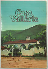 1981 Vintage LAMINATED Menu CASA VALLARTA Restaurant Hollywood San Diego So Cal