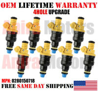 X8  BOSCH FUEL INJECTORS FOR FORD 5.0 5.8 302 351W BRONCO F150 19 Hole Upgrade