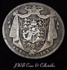 1836 William IV Silver Halfcrown Coin - Great Britain.