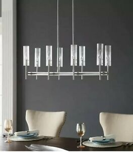 Scott Living Windsor 8-Light Brushed Nickel Modern/Contemporary Chandelier NEW