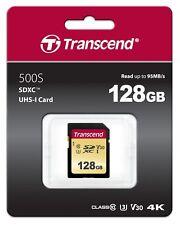 Transcend 128GB UHS-I U3 SDXC MEMORY CARD MLC FLSH (TS128GSDC500S)