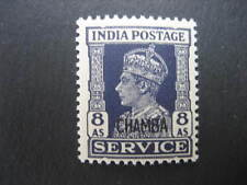 CHAMBA KGVI 1940 8a OFFICIAL NHM SGO82