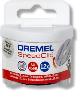 Dremel SpeedClic SC456B Metall-Trennscheiben, Zubehörsatz mit 12 Trennscheiben