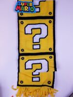 Nintendo Super Mario Bros Fleece Scarf Yellow Question Block - New! CultureFly