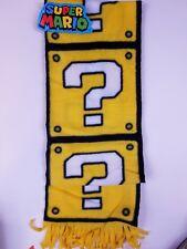 Nintendo Super Mario Bros Fleece Scarf Yellow Question Block - New! CultureFly