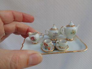 Adorable petit service à thé Limoges miniature ancien de poupée ancienne