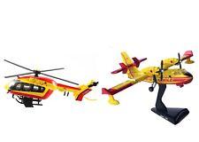 Lot Del Prado Pompier Avion Canadair Bombardier + Hélicoptère Eurocopter