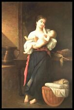 "* 36""x24"" Oil Painting on Canvas, Mother and Child, Hand Painted"