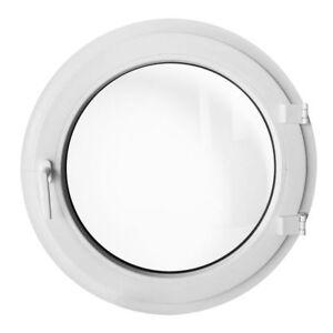 Oeil de boeuf à la française Blanc 55cm 60cm 70cm 80cm 90cm 100cm fenêtre ronde