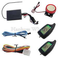 Two Way Motorcycle Alarm System With LED Indicator & 2 LCD Remote Transmitters