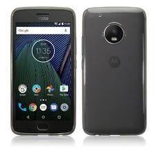 Motorola Moto G5 caso PLUS resistente agli urti micro FLEX GEL Balistico Nero Fumo