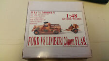 Ford V8 Limber 20mm Flak Wespe Resin Models 1:48 Wes 48034