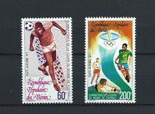 BÉNIN - 1977 YT 273 à 274 - POSTE AERIENNE - TIMBRES NEUFS* charnière