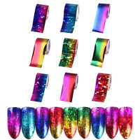 9 Sheets Gradient Starry Sky Nail Art Foil Paper Manicure Sticker Decal Tips DIY