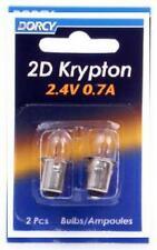Dorcy 2D 2.4 Volt 0.7A Bayonet Base Krypton flashlight Light Lamp Bulb 2pc