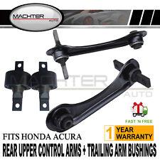 Rear Upper Control Arms + Trailing Arm Bushings Set Fits 92-00 Honda Civic Acura