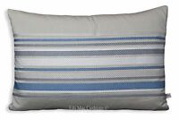 Jane Churchill Vista Luxury Designer Grey BlueStripe Fabric Cushion Pillow Cover